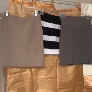 Bundle of three cute mini skirts size small!